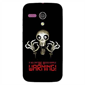 Bhishoom Designer Printed Back Case Cover for Motorola Moto G :: Motorola Moto G (1st Gen) :: Motorola Moto G Dual (Skull :: Skeleton :: Warning :: Typography :: Ghost)