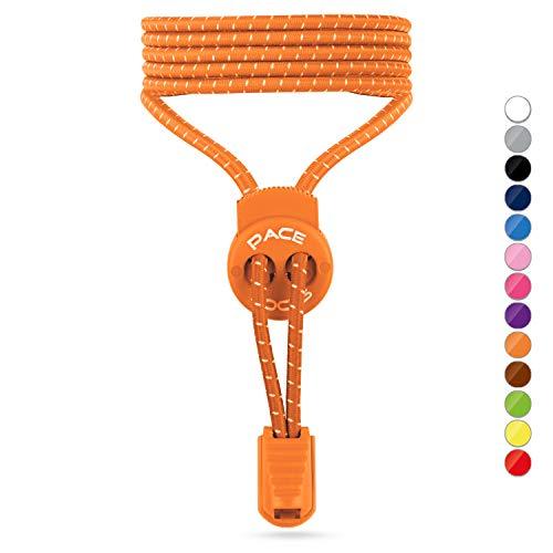 ALPHAPACE- Elastische Schnürsenkel mit Schnellverschluss - Schnellschnürsystem für einzigartigen Komfort, perfekten Sitz und starken Halt - 1 JAHR 100% ZUFRIEDENHEITSGARANTIE (Orange) -