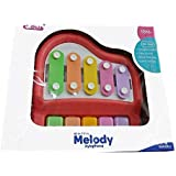 "Trade Globe Toys Amazing 5 Keys Musical Xylophone Piano Hammer Sticks For Kids And Toddler - NO Battery Needed - Non Toxic "" Design By Our Hearts, Bring Your Baby Joy And Happiness """