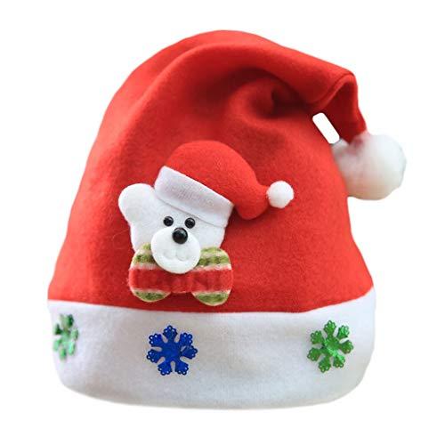 Binggong Herren Mantel Unisex Weihnachtsmütze Nikolausmütze Plüsch kuschelweich & angenehm Für Erwachsene Festlicher Weihnachtsmann Mütze Partyhut