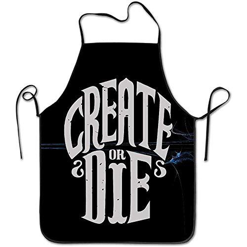 ie oder sterben Sie lustige Schürze Küche BBQ Barbecue Kochen Grillen Schürze schwarz ()