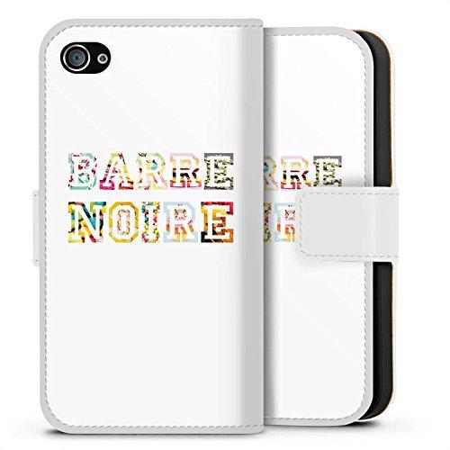 Apple iPhone X Silikon Hülle Case Schutzhülle schrift fashionweek college Sideflip Tasche weiß