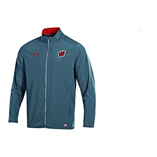 Under Armour Charger NCAA Men's Field Sideline Full-Zip Warm-Up Jacket, Flawless, XX-Large