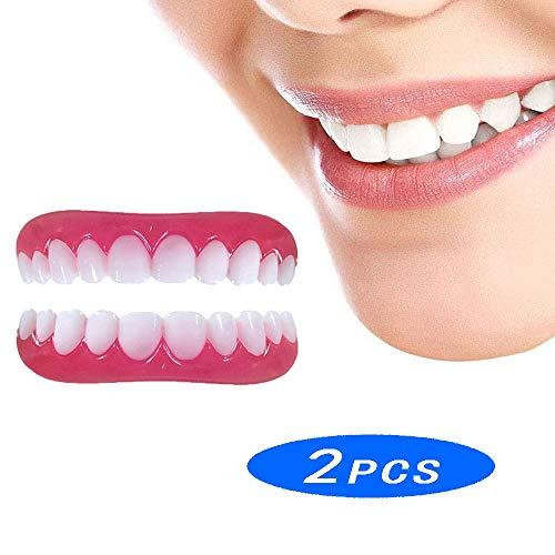NMJDSSS Veneer Zähne Prothese Dental Provisorischer Zahnersatz Smile Kosmetik Komfort Weiche Make-Up Furnier Aufkleber Gesicht Perfekte Lächeln Gebiss Mundhygiene Pflege (Prothesen Make Up)
