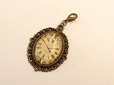 Pendentif avec motif d'horloge steampunk
