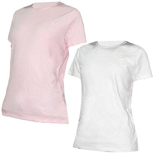 pack-of-2-liz-claiborne-damen-rundhals-kurzarm-t-shirt-pink-weiss-3x