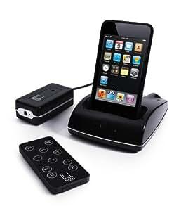 Roth Audio RothDock: drahtlose (2.4Ghz) Dock-Lösung für Apple iPhone oder iPod (Dock, drahtloser Empfänger für Hi-Fi Anlage, Fernbedienung)