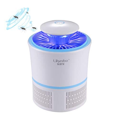 Lanbinxiang@ 3W, USB, 365nm UV-Photokatalysator 6 Blattfächer-Moskito-Licht, Größe: 19 * 13,5 cm, Blau Haushalt (Farbe : Blau)