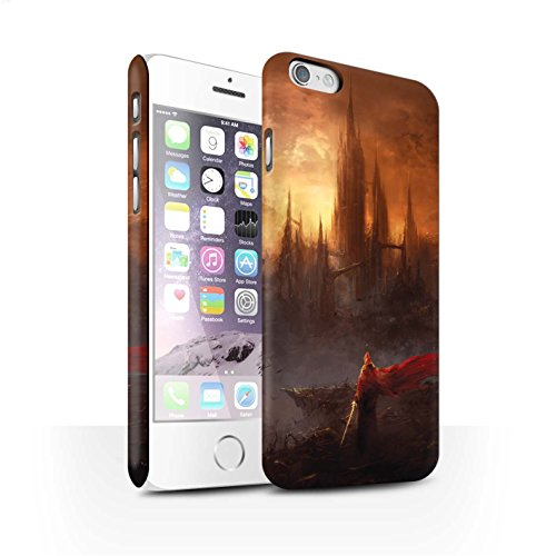 Offiziell Chris Cold Hülle / Matte Snap-On Case für Apple iPhone 6S / Gift Haupt Muster / Gefallene Erde Kollektion Shadowgate Schloss