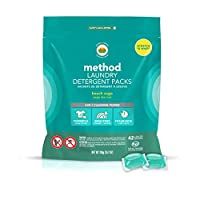 Beach Sage, 42 Load Packs (2 Count) Method Laundry Detergent Packs, Beach Sage, 42 Loads Per Bag,