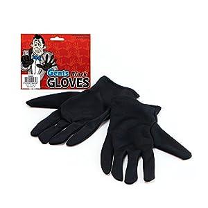 NEW MALE BLACK GLOVES - MAGICIAN - FANCY DRESS (accesorio de disfraz)