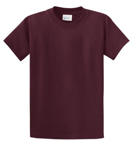port-company-t-shirt-gr-large-athletic-maroon