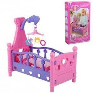 lit poupee poupon mobile couverture jeu jouet pour enfant et petite fille jeux. Black Bedroom Furniture Sets. Home Design Ideas