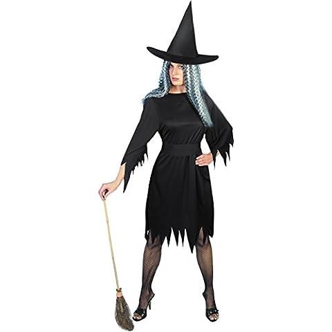 Traje de la bruja de disfraces vestido de bruja sombrero de bruja Gr. 36/38 (S), 40/42 (M), 44/46 (L), talla: M