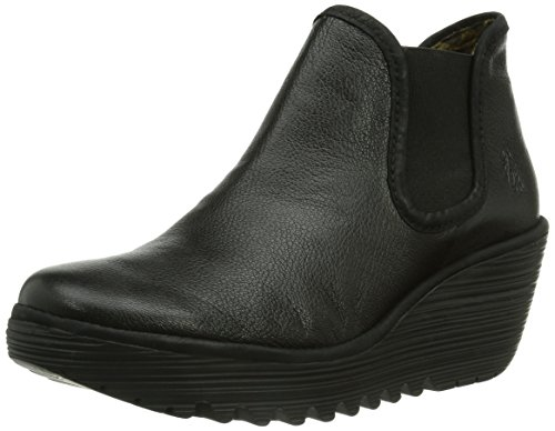 Fly London - Yat, Stivali da Donna Nero (Black/Black 000)