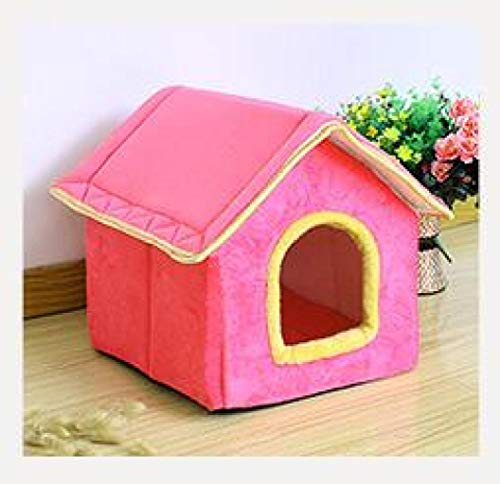 Hund Katze Haus Betten Candy Farbe Weiche Winddichte Warme Abnehmbare Dicke Deluxe Pet Products Puppy Mat Sofa Basket -