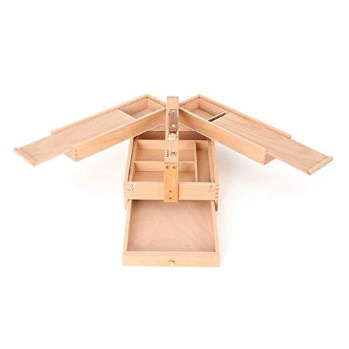 kasten Multifunktions Toolbox Student Klapp Staffelei Artboard Box Holz 23,5 × 36 × 15 cm ()