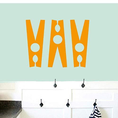Set Wäscheklammern Wandtattoos Badezimmer Waschküche Wanddekoration Aufkleber Wandgestaltung Clipart Home Decoration Accessories42X54Cm