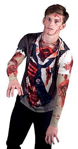 ealistisches Shirt Zombie, Kostüme für Erwachsene (Halloween-t-shirt-kostüme)