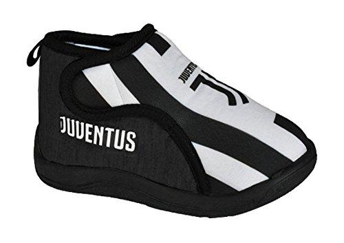 Juventus calcio pantofole bambino ciabatte juve ps 25362 nuovo logo jj-29-nero