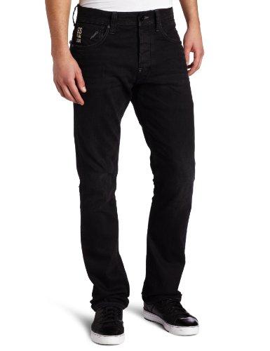G-STAR RAW Herren Jeans Attacc Low Straight Schwarz (Vintage Worn In)