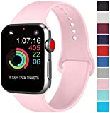 AK Compatibili Apple Watch Cinturino 42mm 38mm 44mm 40mm, Sportivo in Silicone Cinturini Compatibili iWatch Series 4, Series 3, Series 2, Series 1 (08 Pink, 38/40mm S/M)
