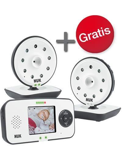 NUK Eco Control 550VD Digitales Babyphone Set, mit extra Kamera und Video Display, Eco-Mode, klare Gegensprechfunktion, zuverlässige Signalübertragung, 1 Set