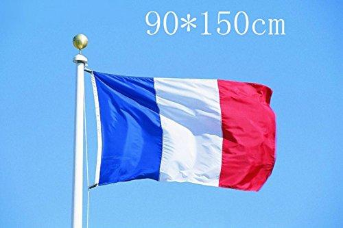 Fahne,Frankreich Fahne/Flagge,Fähnchen,Fliese, Kalmus, mehrfarbig, 90 x 150 cm Französische Fahne