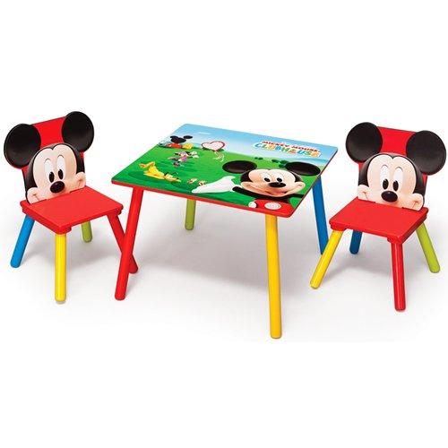 Salon de jardin ensemble table et chaise en table pour enfant mickey mouse