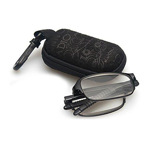 Zhuhaixmy Das handliche Flip-Top-Design Reise-Mini Brillen Schlank faltbare Falte Lesebrille