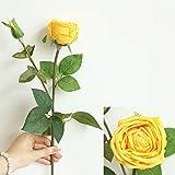 Gaddrt Fiore Artificiale Artificiale Seta Fiori Finti Rose Floral Wedding Bouquet Da Sposa Ortensia Decor Casa Decorazione Di Nozze (Yellow)