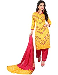 MEGHALYA Women's Satin Cotton Dress Material (V Gulty Satin Cotton Dress-4039)