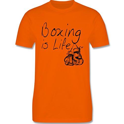 Kampfsport - Boxing is Life - Boxen ist Leben - Herren Premium T-Shirt Orange