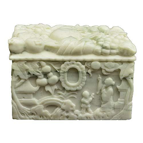 QNMM Puro Ataúd De Piedra Natural De Jade para Mascotas Patrón Exquisito Jade De Piedra Ataúd Funerario De Mascota para El Funeral De Mascotas, Gatos Y Perros