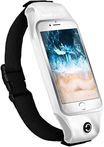 moex Komfortable Sporthülle für Motorola Moto E2 | Ideal für Fitness - Wasserabweisend mit Kopfhöreröffnung + 2-teiliger Innentasche, Weiß