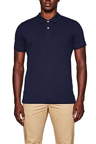 ESPRIT Herren Poloshirt 998EE2K808, Blau (Navy 400), Large