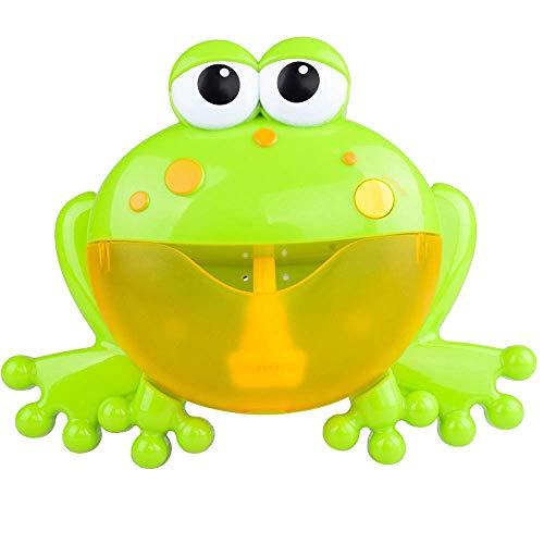 lodogsow Nette Frosch Automatische Blase Maschine Schwimmen Wasser Spielzeug Neugeborene Baby Bad Blase Maschine Große Frösche Automatische Mit Musik Waschen Spielen