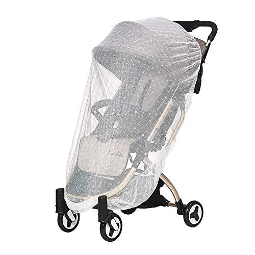 Qywsj zanzariera per passeggini, vettori, seggiolini auto, culle, impermeabile, antivento, non tossico e protezione contro le zanzare, buona circolazione dell'aria (70 * 55cm)