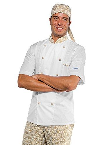 Isacco - Veste de cuisine Bi-couleur spécial été Blanc