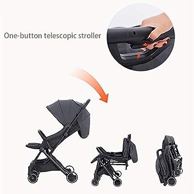 XYL Cochecito de bebé Plegable Doble para niño/bebé Silla de Paseo con una combinación de Canasta de Almacenamiento Grande Arnés de Cinco Puntos Tragaluz Grande Cochecito cómodo