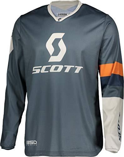 Scott 350 Track MX Motocross Jersey/DH Fahrrad Trikot blau/grau 2020: Größe: XXL (54/56)