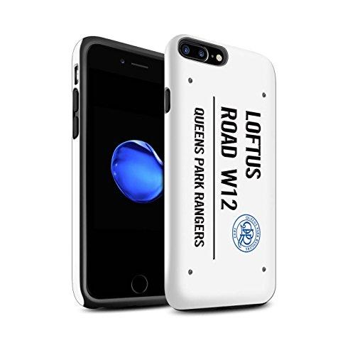 Offiziell Queens Park Rangers FC Hülle / Glanz Harten Stoßfest Case für Apple iPhone 7 Plus / Pack 8pcs Muster / QPR Loftus Road Zeichen Kollektion Weiß/Schwarz