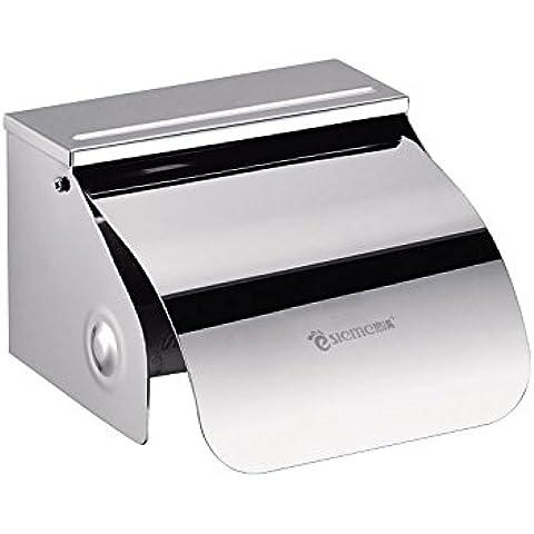 QUEEN'S Grossman in Acciaio Inox scatole tessuto mano cassetto del vassoio porta-CARTA IGIENICA Carta igienica Roll vassoio direttamente in