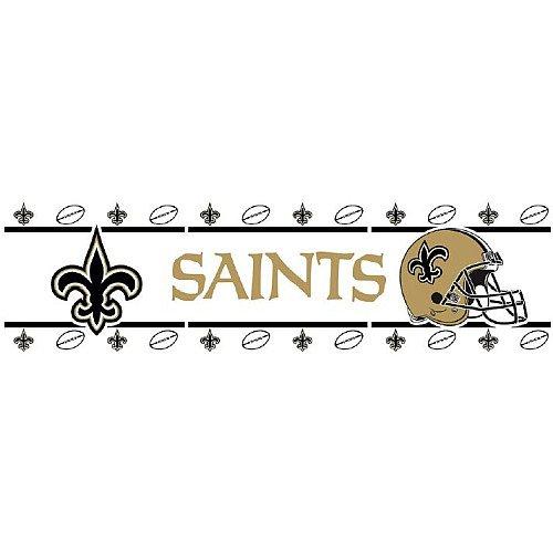 NFL New Orleans Saints schwarz Bordüre–Abziehen und Aufkleben
