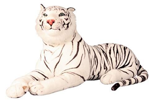 Tiger weiß XXL Plüschtier 1,70 m Kuscheltier Stofftier Raubkatze weiss (Weißer Stofftier Tiger)