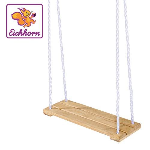 Eichhorn 100004503 - Outdoor, Holz- Brettschaukel, höhenverstellbar 140-210 cm, bis 60 kg