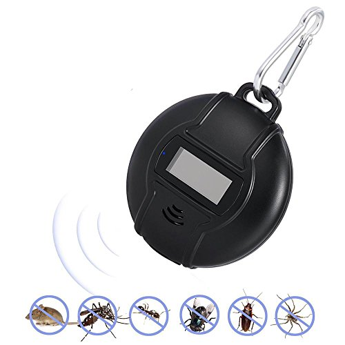 KOBWA Repelente Ultrasónico, [2018 Nuevo] Solar USB Repelente de Insectos Ecológico y Sin Veneno Portátil para Insectos, Mosquitos, Cucarachas, Moscas, Hormigas, Ratones con Brújula