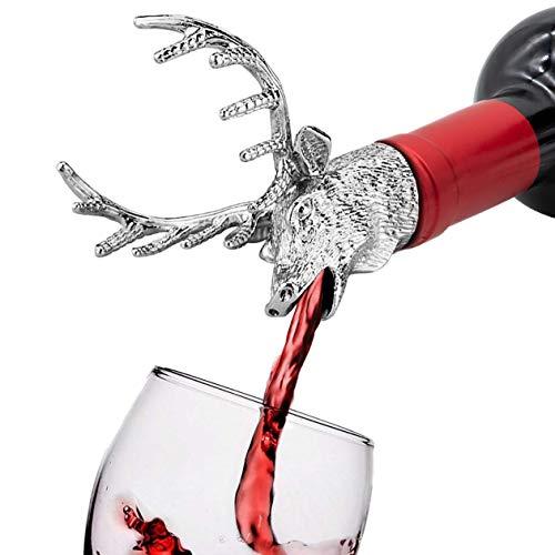 HASAGEI Flaschenverschlüsse Weinausgießer Hirschkopf Stopper Wein und Bier