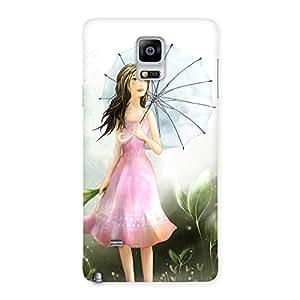 Umbrella Princess Back Case Cover for Galaxy Note 4