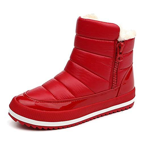 (Frauen Schnee Stiefel Winter Schuhe Plüsch Wasserdichte Plattform warm Slip-on-Stiefel Stiefeletten)
